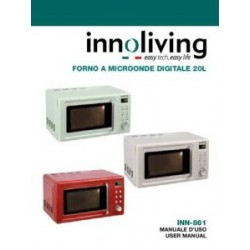 FORNO MICROONDE 20 L VINTAGE INNOLIVING